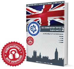 NEW, ECL EXAMINATION TOPICS English Level C1 BOOK 2